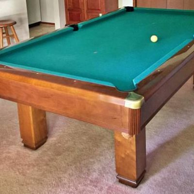Hawthorn by Brunswick 7' Solid Hardwood Slate Cherry Pool Table