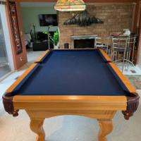 Beautiful Maple Claw Foot Pool Table