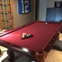 Pool/Table Tennis Set Burguny Felt