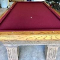 Solid Wood Pool Table For Sale