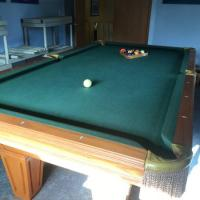 Oak Pool Table and Ping Pong Table