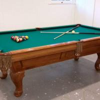 8' Brunswick Rochester Slate Pool Table